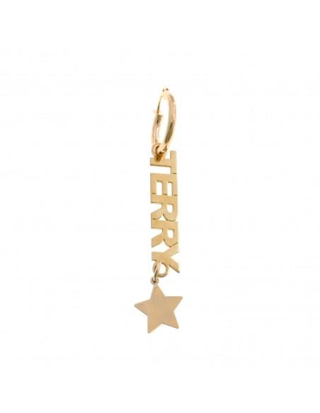 Mono Orecchino Personalizzabile in Argento 925 Placcato Oro Rosa