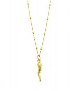 Collana con Corno in Argento 925 Placcato Oro Giallo