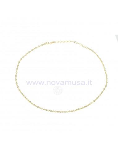 Collarino con zirconi a cipollina in argento 925 placcato oro giallo