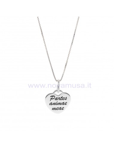 Collana con cuore personalizzabile in argento 925 rodiato