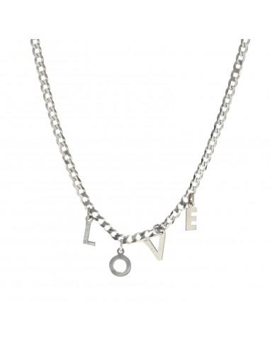 Collana grumetta personalizzata con lettere pendenti in argento 925