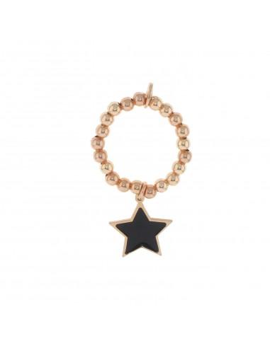 Anello a sfere con stella pendente...